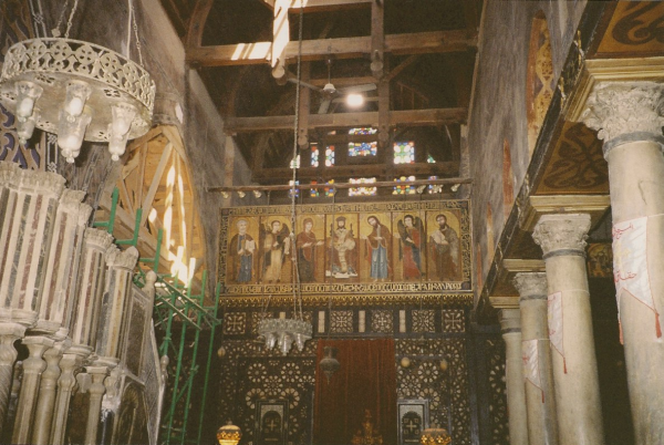 Central Iconostasis with Pulpit to left