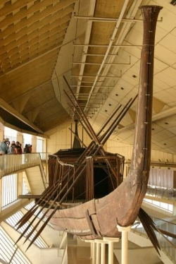 The Solar Barge of Khufu (courtesy of Wikimedia Commons)