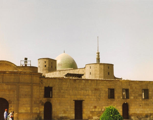 Citadel wall with the dome of the Mosque of Muhammad el-Nasir visible