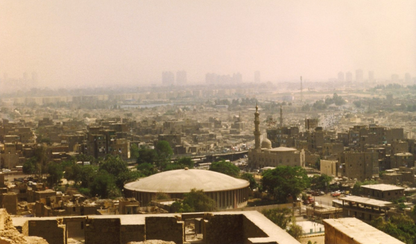 The hazy expanse of Cairo from the Citadel