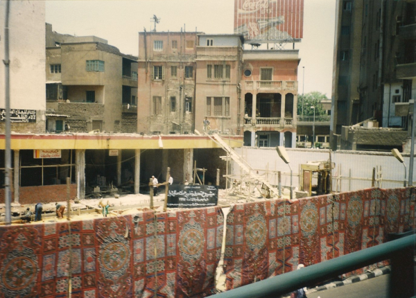 Construction scene with tasteful Persian dust covers