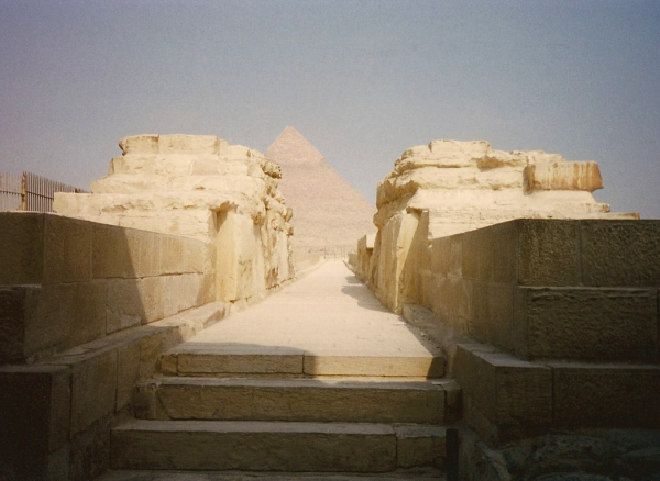 Khafre's Pyramid seen from the causeway