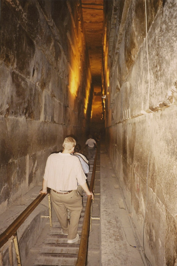 The Grand Gallery inside Khufu's Pyramid