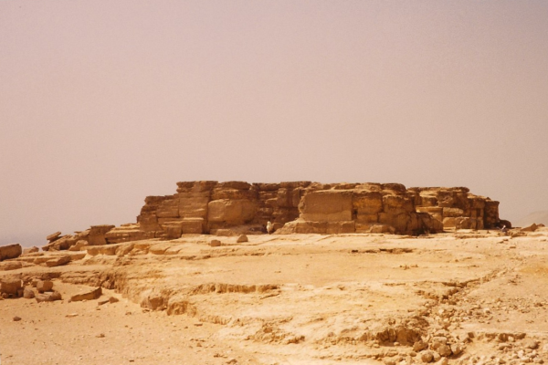 One of the many mesas of the Giza Plateau