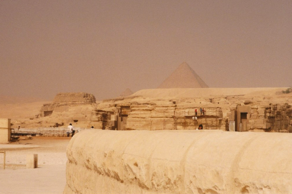 Lesser tombs in the shadow of the pyramids