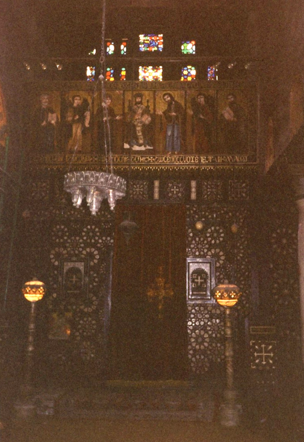 Central iconostasis and sanctuary dedicated to the Virgin Mary