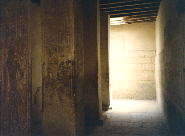 The original vestibule?  Looking north in the four-pillar room