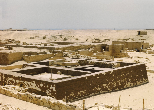 An avenue of mastabas at Saqqara