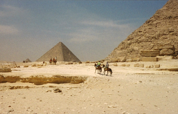 Backside of the Giza Pyramids