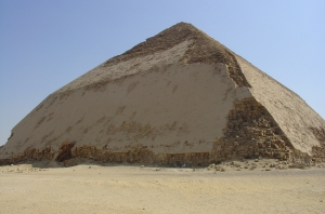 The Bent Pyramid of Dashur (courtesy Wikimedia Commons)