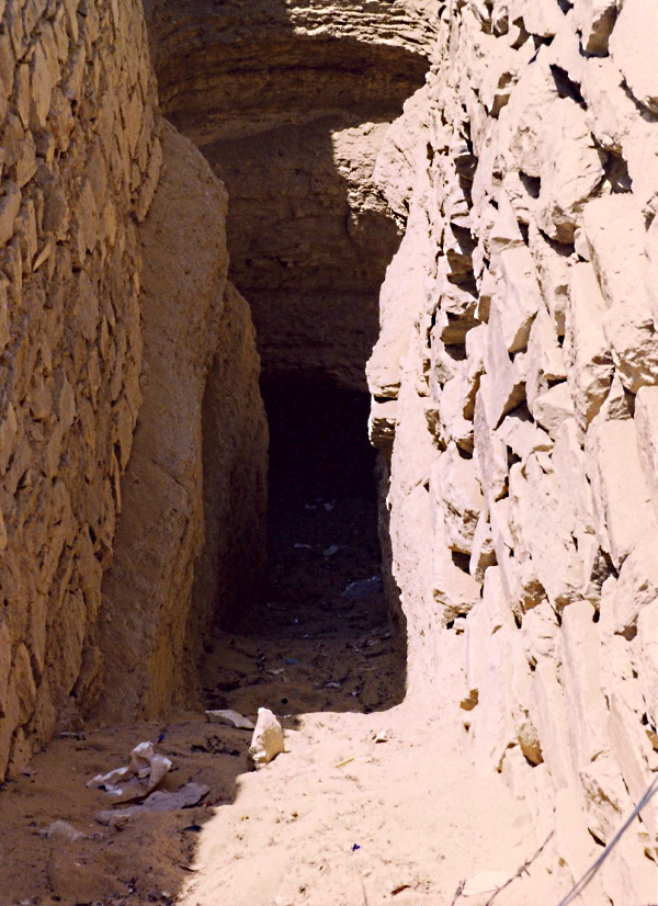 "The ""original"" entrance to the Step Pyramid from the Mortuary Temple"