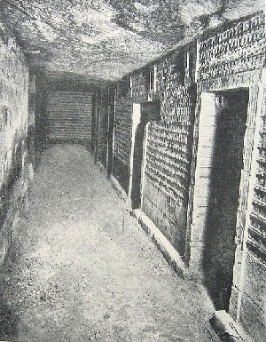 Miles of tunnels under Djoser's pyramid (courtesy of Wikimedia Commons)