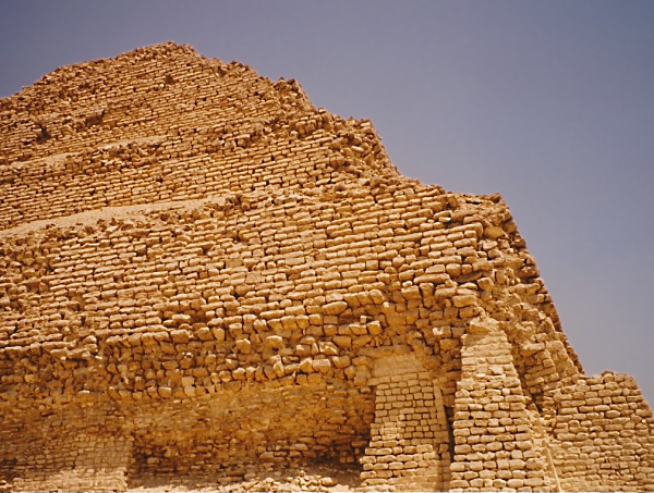 Efforts continue to reconstruct collapsed sections of Djoser's Pyramid