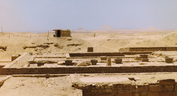 The future on the horizon--Dashur Pyramids from Djoser's Complex