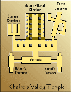 Map of Khafre's Valley Temple