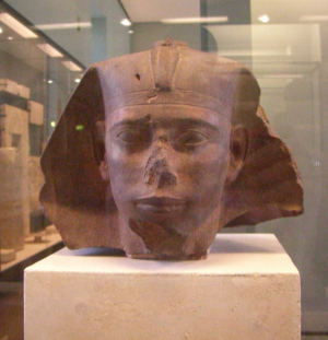The head from King Djedefre's Sphinx (Photo by Neithsabes)