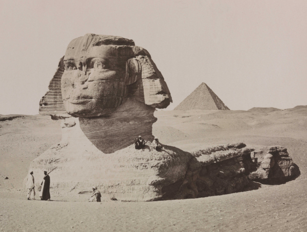 The Great Sphinx, circa 1880 ('Le Sphinx Armachis, Caire' by Henri Bechard, courtesy of the National Media Museum)