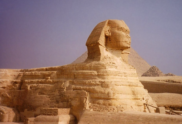 Shown from profile, the Sphinx's head appears disproportionately tiny compared to the rest of its body (Photo by Keith Payne)