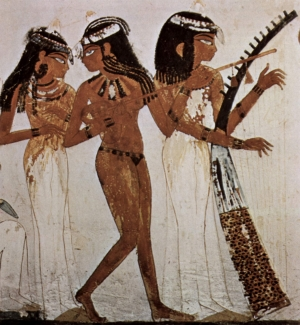 Musicians and dancers are a common motif in Egyptian art