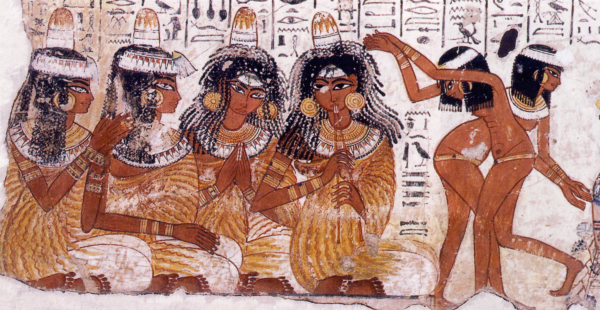 Musicians and dancers from the Eighteenth Dynasty tomb of Nebamun (Photo by Fordmadoxfraud)