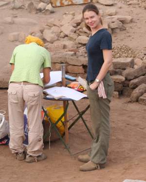 Dr. Nadine Moeller, director of the Tell Edfu Project (Photo by Gregory Marouard, Tell Edfu Project)