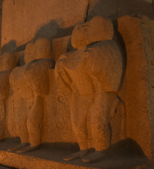 During the Late Kingdom Period baboons, such as these depicted at Karnak, were associated with the god Osiris (Photo by Rick Manwaring)