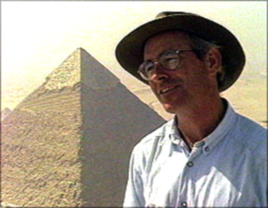 "Egyptologist Dr. Mark Lehner (Courtesy of PBS, from the documentary ""This Old Pyramid"")"