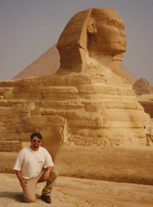 Shemsu in front of the Sphinx