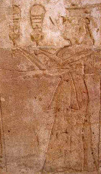 Twosret, a God's Wife from the Nineteenth Dynasty, playing sistrums for Amun (Photo by John D. Croft)