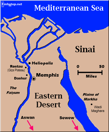 Map of Lower Egypt and the Sinai
