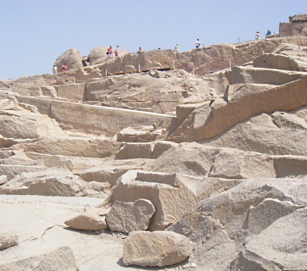 An Aswan granite quarry at the site of the Unfinished Obelisk (Photo by Joe Pyrek)