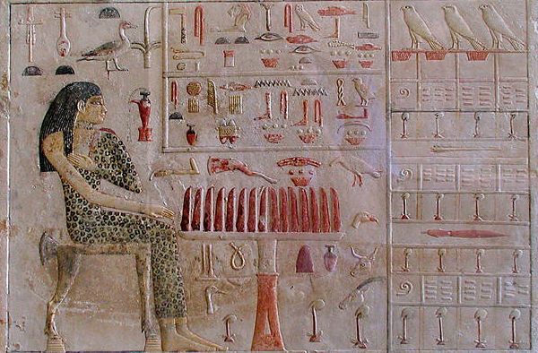 A Fourth Dynasty princess and priestess named Nefertiabet making offerings (Photo by Jon Bodsworth)