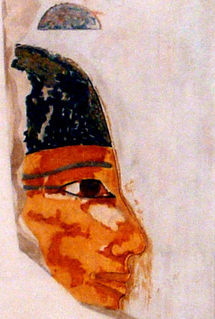 Reproduction of a tomb painting of the Divine Adoratrice Seniseneb (Painting by Norman de Garis Davies, courtesy of the Metropolitan Museum of Art)