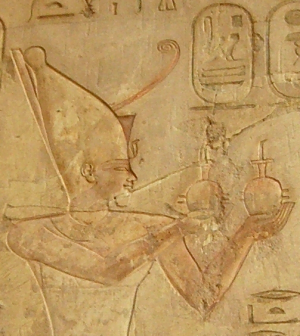 Pharaoh Psamtik I, from the tomb of Pabasa (Photo by Neithsabes)
