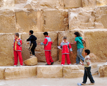 Building a Great Pyramid—It's not mere child's play! (delightful photo by Ed Yourdon)