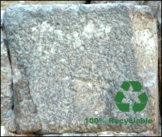Recyclable block