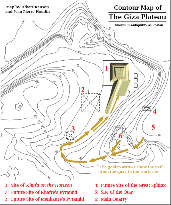 Contour Map of the Giza Plateau