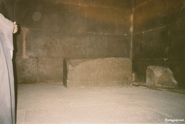 The King's Chamber and the sarcophagus – usually, but not always, a good sign that someone was interred (Photo by Keith Payne)