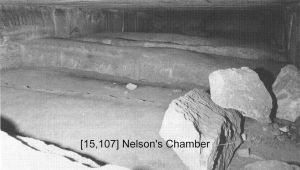 "The third relieving chamber, called ""Nelson's Chamber,"" has the clearest hieroglyphic inscriptions (Photo by Adam Rutherford)"