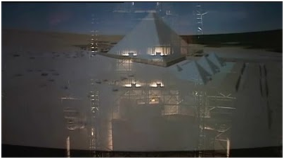 """Khufu Revealed"" at la Géode (Courtesy of Dassault Systèmes)"