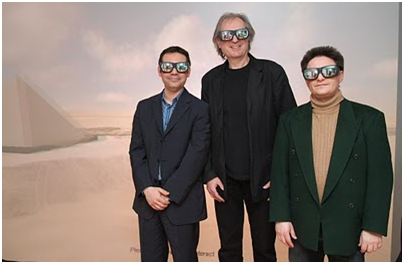 Mehdi Tayoubi, Jean-Pierre Houdin, Richard Breitner—Glasses for the virtual to better understand the real (Courtesy of Dassault Systèmes)