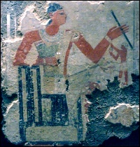 Life goes on in the afterlife—wall painting from the Sixth Dynasty tomb of Metchetchi (Photo by Keith Payne)
