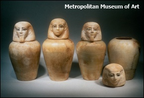 Canopic jars of Sitwerut, wife of Horkherty (Metropolitan Museum of Art)