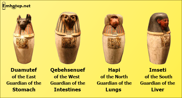 canopic jars chart