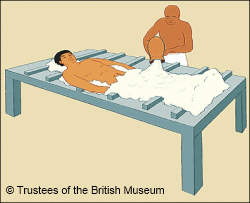 Ancient Egyptian embalming table