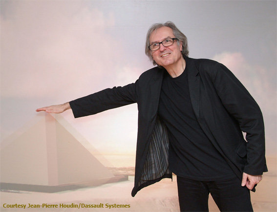 Jean-Pierre Houdin at la Géode, Paris, in 2007 for the premier of the first part of his work, Khufu Revealed (photo courtesy Jean-Pierre Houdin/Dassault Systèmes)