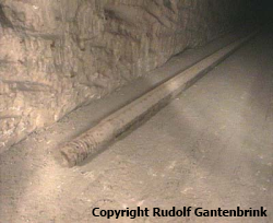 One of the iron rods left in QCN, photographed by Father of Upuaut during its brief trip into the shaft.