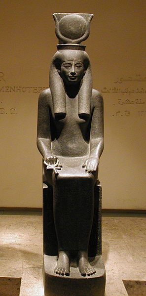Hathor from the Luxor Museum, photo in the public domain