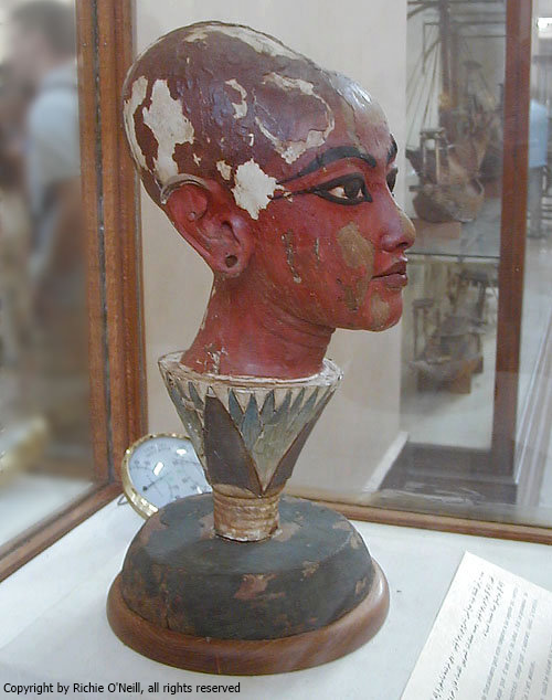 Lotus head of Tutankhamun, from the Egyptian Museum, Cairo (Photo by Richie O'Neill)