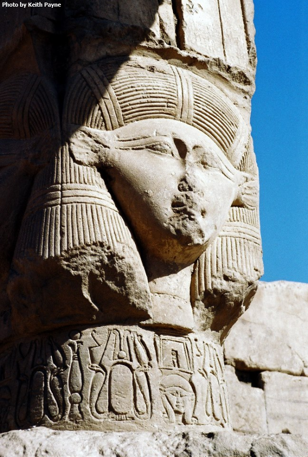 A Hathor capital showing the goddess in her human-faced form (Photo by Keith Payne)